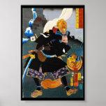Cool oriental legendary Ancient Samurai General Poster