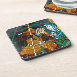 Cool oriental Legendary Hero Samurai general Beverage Coaster