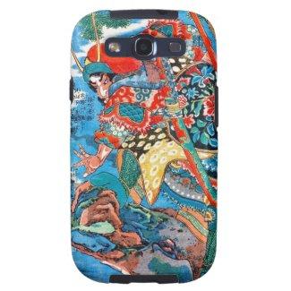 Cool oriental Legendary Hero Samurai Warrior art Galaxy SIII Cases