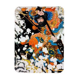 Cool oriental Legendary Hero Warrior Horse Rider Rectangular Photo Magnet