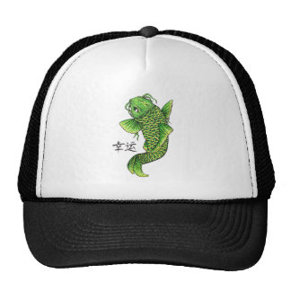 Cool Oriental Lucky Green Koi Fish Carp Hat