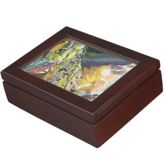 Cool oriental Namche Bazar Nepal mountain art Memory Box