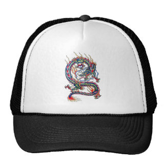 Cool Oriental Red Dragon with Orb tattoo Trucker Hat
