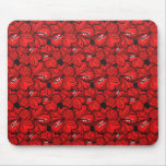 Cool  oriental red flowers mousepad