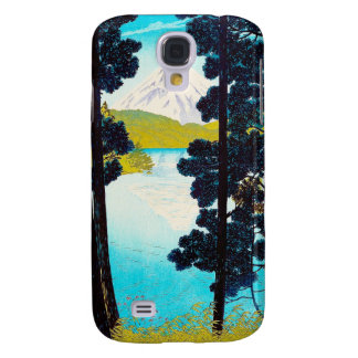 Cool oriental Shiro Kasamatsu Lake Fuji view art Galaxy S4 Case