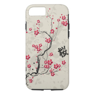 Cool Oriental Style Sakura Cherry Blossom Art iPhone 7 Case
