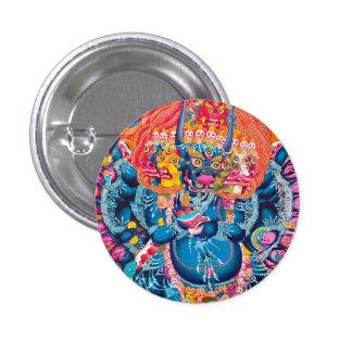 Cool oriental tangka Yamantaka death god tattoo Button