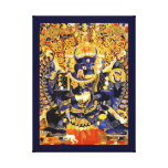 Cool oriental tangka Yamantaka death god tattoo Canvas Print