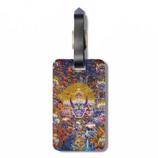 Cool oriental tangka Yamantaka death god tattoo Luggage Tag