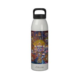 Cool oriental tangka Yamantaka death god tattoo Reusable Water Bottle