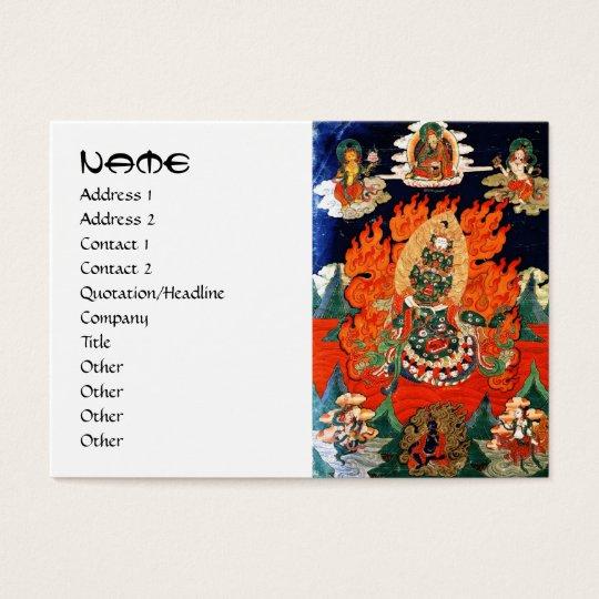 Cool oriental tibetan god thangka tattoo art business card