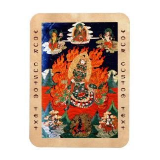 Cool oriental tibetan god thangka tattoo art magnet