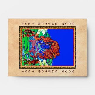 Cool oriental tibetan thangka Acalanatha tattoo Envelope
