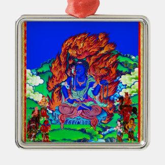 Cool oriental tibetan thangka Acalanatha tattoo Metal Ornament