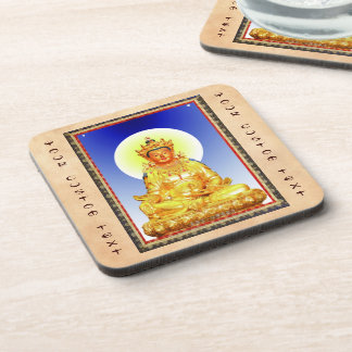 Cool oriental Tibetan Thangka art Beverage Coasters