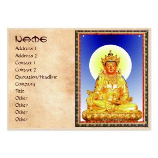 Cool oriental Tibetan Thangka art Large Business Card