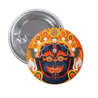 Cool oriental tibetan thangka Bhairava tattoo art Button