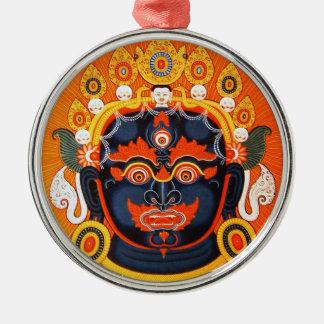 Cool oriental tibetan thangka Bhairava tattoo art Metal Ornament