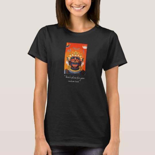 Cool oriental tibetan thangka Bhairava tattoo art T-Shirt