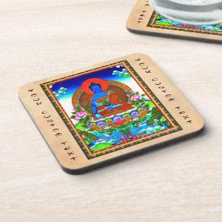 Cool oriental tibetan thangka Bhaisajyaguru tattoo Drink Coasters