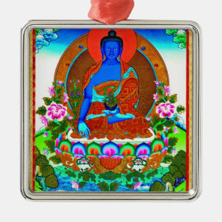 Cool oriental tibetan thangka Bhaisajyaguru tattoo Metal Ornament