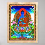 Cool oriental tibetan thangka Bhaisajyaguru tattoo Poster