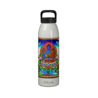 Cool oriental tibetan thangka Bhaisajyaguru tattoo Drinking Bottle