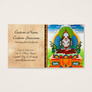 Cool oriental tibetan thangka Buddha Locani Business Card