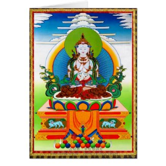 Cool oriental tibetan thangka Buddha Locani Cards