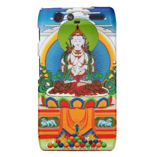 Cool oriental tibetan thangka Buddha Locani Droid RAZR Cases