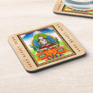 Cool oriental tibetan thangka Buddha Locani Coaster