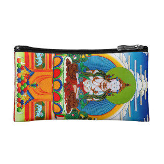 Cool oriental tibetan thangka Buddha Locani Cosmetic Bag