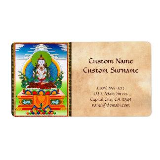 Cool oriental tibetan thangka Buddha Locani Custom Shipping Label
