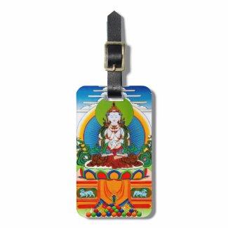 Cool oriental tibetan thangka Buddha Locani Luggage Tags