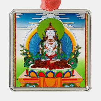 Cool oriental tibetan thangka Buddha Locani Metal Ornament