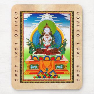 Cool oriental tibetan thangka Buddha Locani Mouse Pads