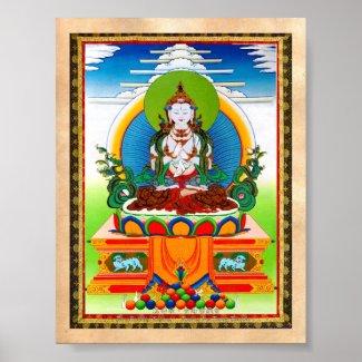 Cool oriental tibetan thangka Buddha Locani Print