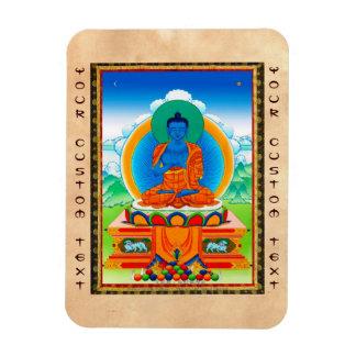 Cool oriental tibetan thangka DaZ i Zai Wan Fo Magnet