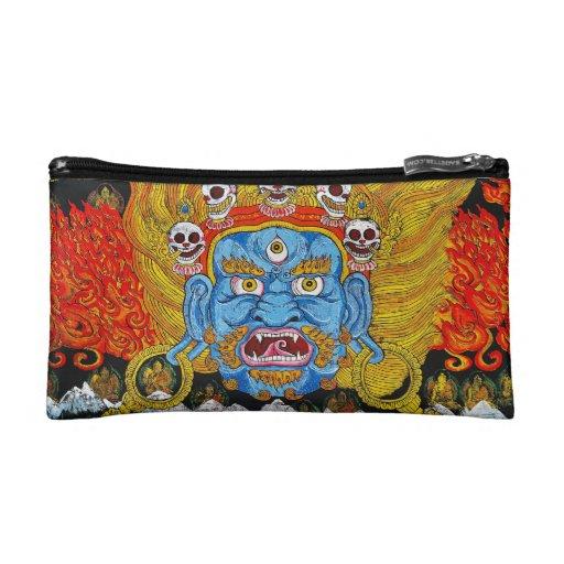 Cool oriental tibetan thangka demon tattoo art makeup bag