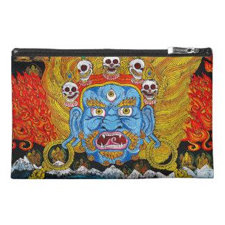 Cool oriental tibetan thangka demon tattoo art travel accessory bags