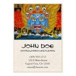 Cool oriental tibetan thangka demon tattoo art business card templates