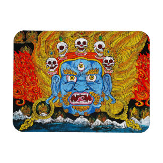Cool oriental tibetan thangka demon tattoo art magnet