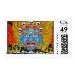 Cool oriental tibetan thangka demon tattoo art postage stamps
