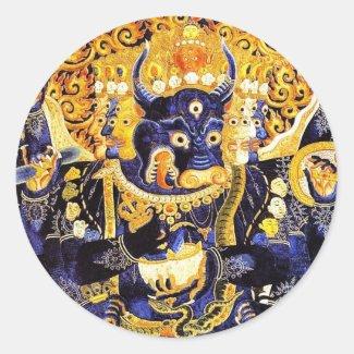 Cool oriental tibetan thangka god tattoo art