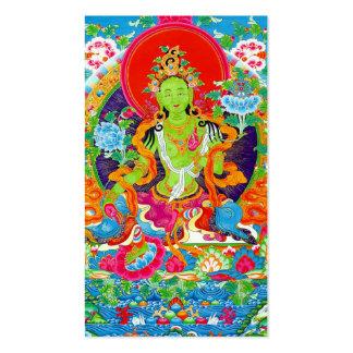 Cool oriental tibetan thangka god tattoo art business card templates