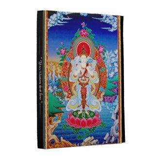Cool oriental tibetan thangka god tattoo art iPad folio cases
