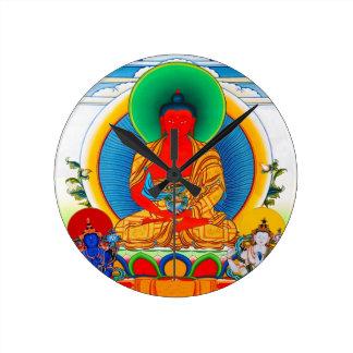 Cool oriental tibetan thangka god tattoo art round clocks
