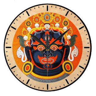 Cool oriental tibetan thangka god tattoo art wallclock