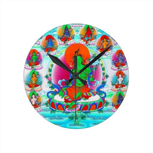 Cool oriental tibetan thangka god tattoo art wall clocks