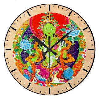 Cool oriental tibetan thangka god tattoo art clocks